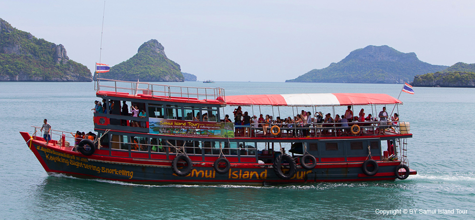 Angthong National Marine Park Trip on the boat